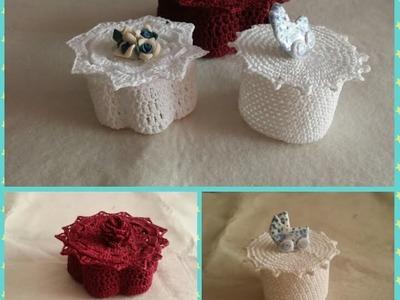 Uncinetto come creare delle scatoline bomboniera