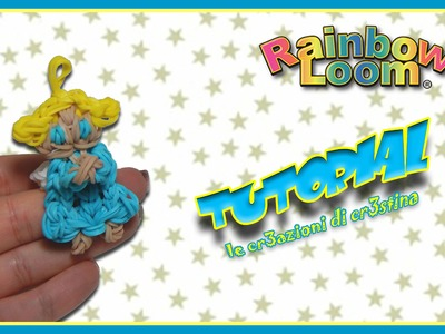 Angioletto con Elastici Rainbow Loom - DIY Cute Angel Charm Tutorial