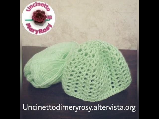 Cappellino crochet per neonati