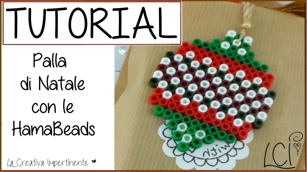 DIY Tutorial Decorazione Natalizia  - Palla di Natale con Hama Beads (Pyssla)