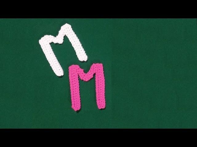 Lettera M all'uncinetto - Alfabeto all'uncinetto - tutorial crochet letter M