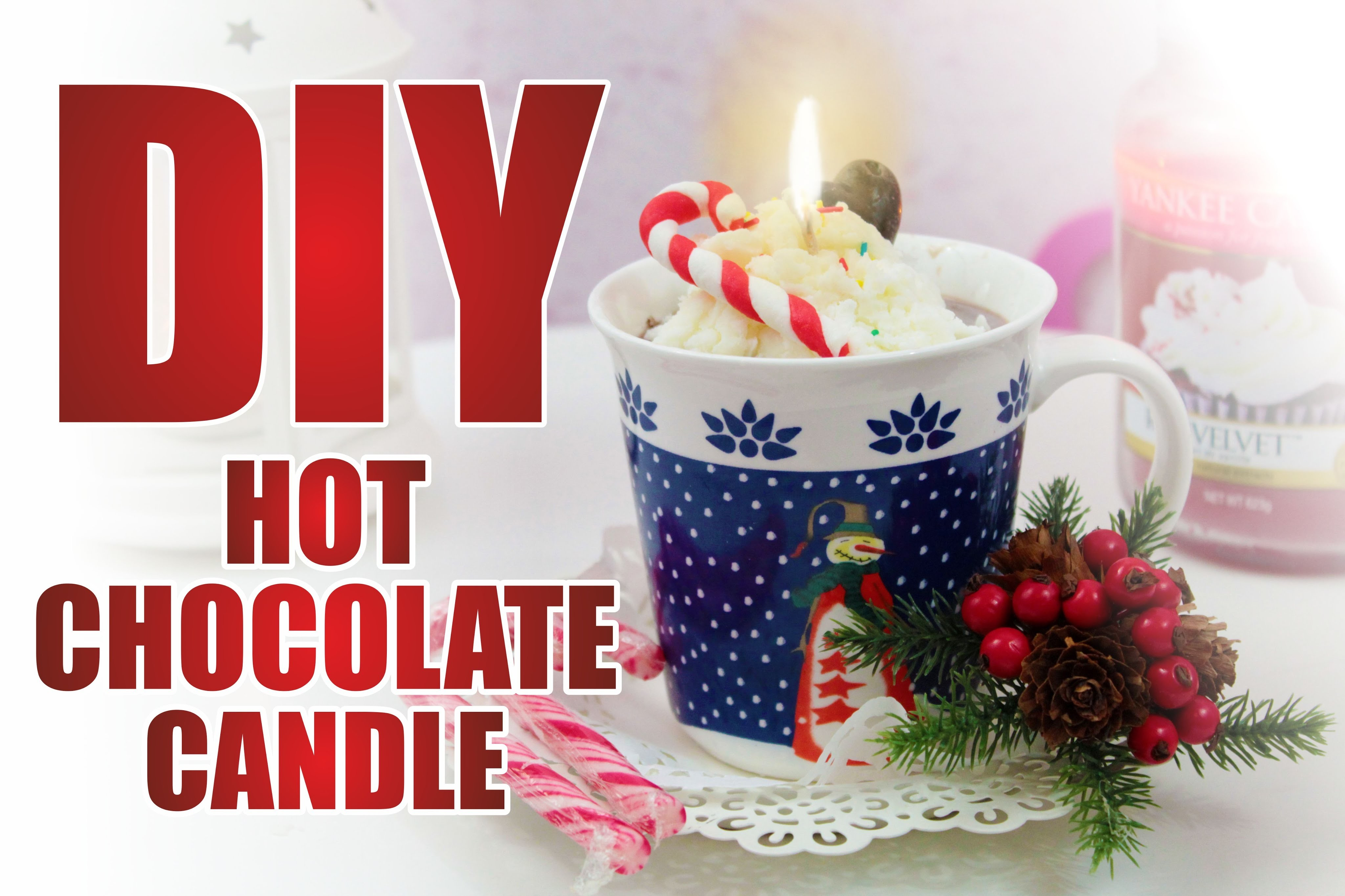IDEE REGALO NATALE #2 : DIY Hot Chocolate Candle