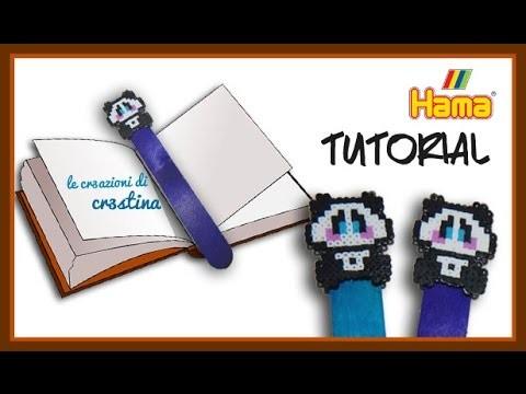 Panda Segnalibro con HAMA BEADS - DIY Cute Panda Bookmark Tutorial