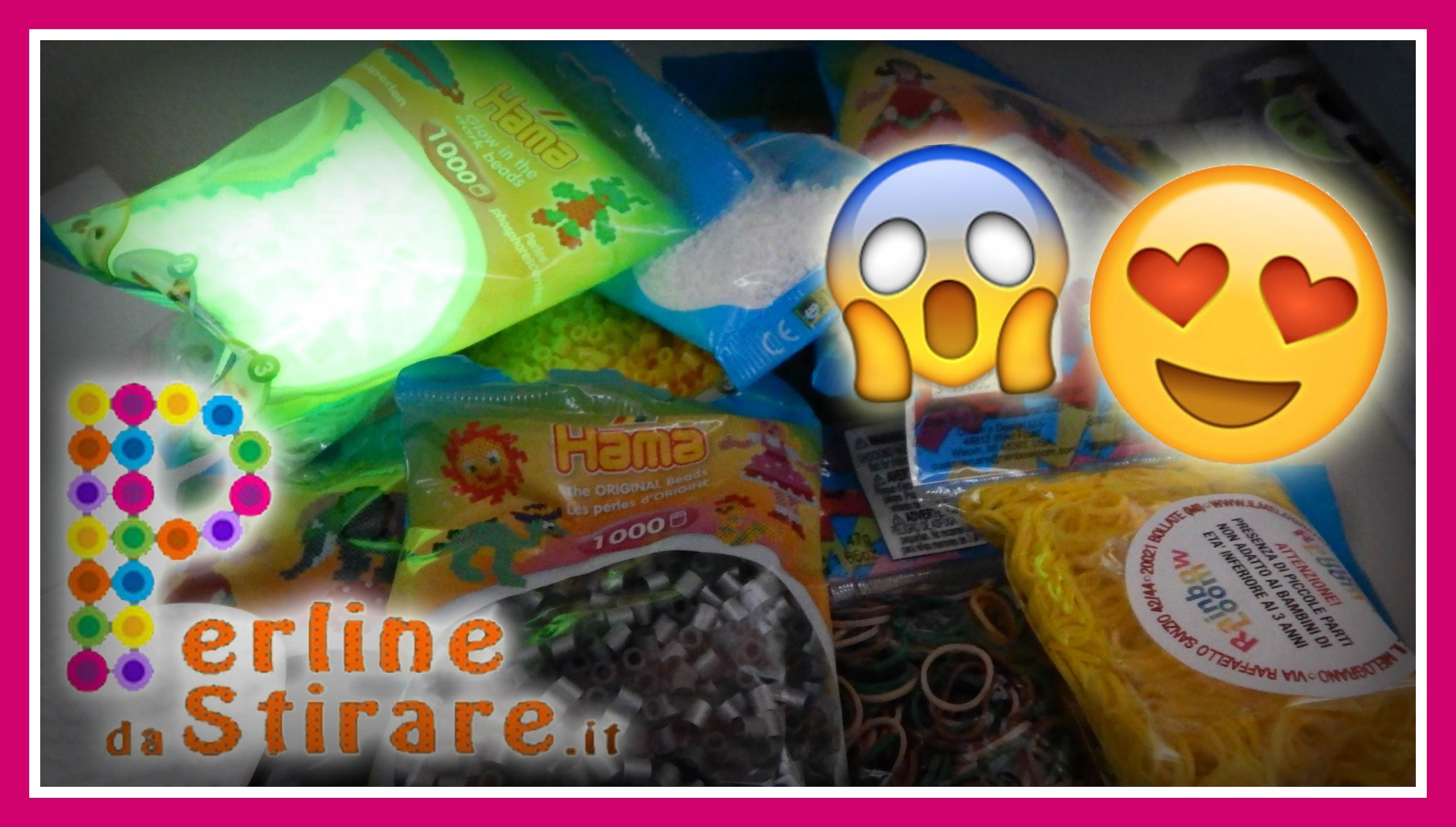 REVIEW Acquisti Perline HAMA BEADS.Basi ed Elastici RAINBOW LOOM