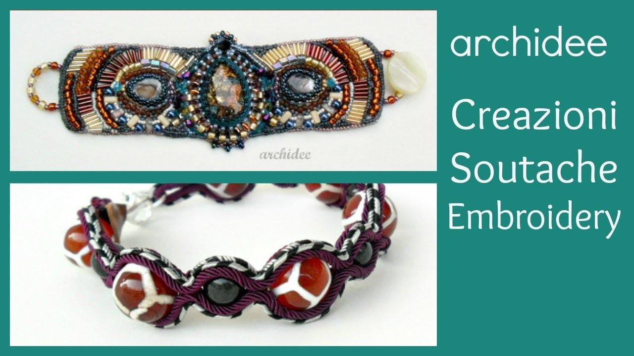 Soutache | Sutasz | Bead Embroidery | Creazioni | Bracciali | Fluo Colours