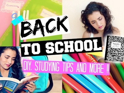 BACK TO SCHOOL : DIY, STUDYING TIPS AND MORE !! ♡│giuliatroubles