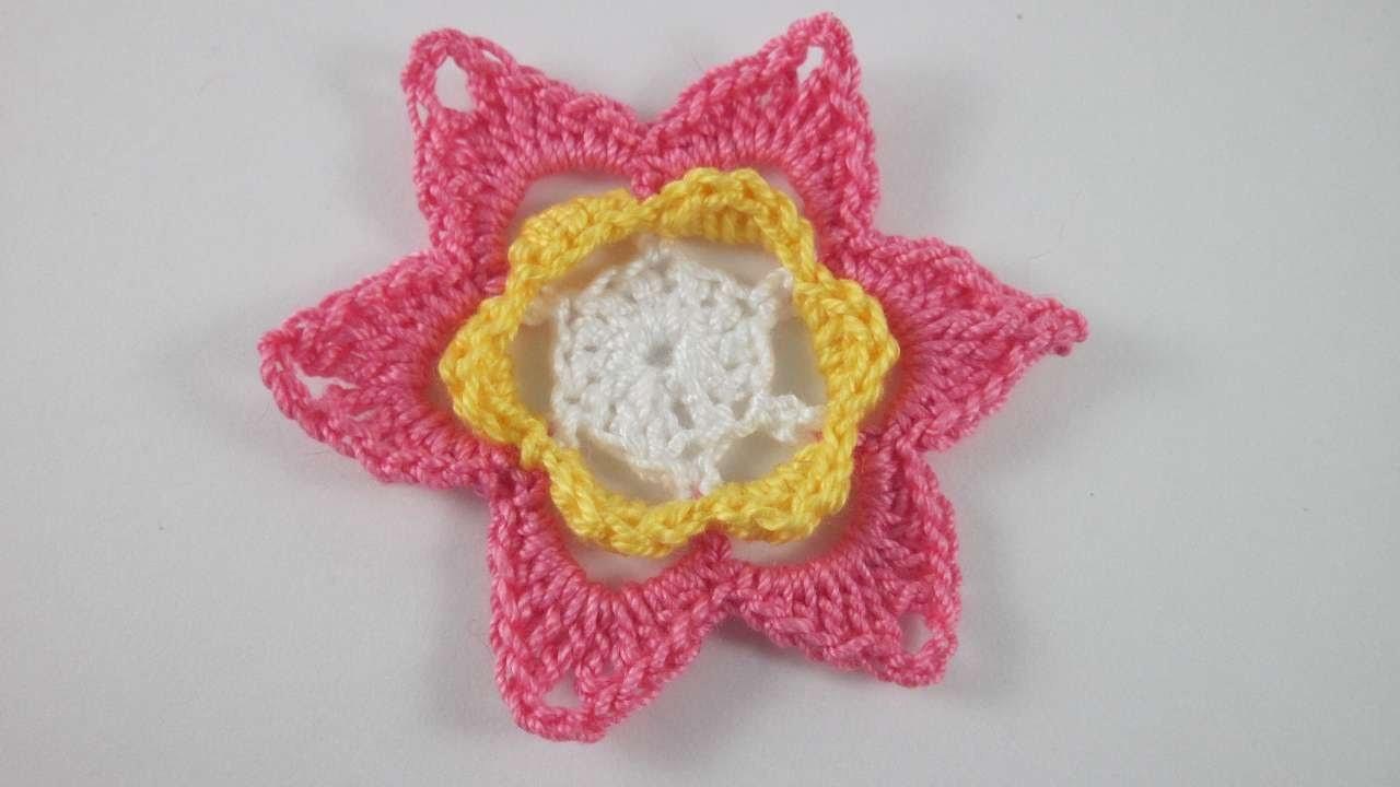 Crea un Bel Fiore all'Uncinetto di 3 Colori - Fai da Te Creazioni - Guidecentral