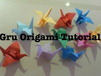 Origami gru tutorial