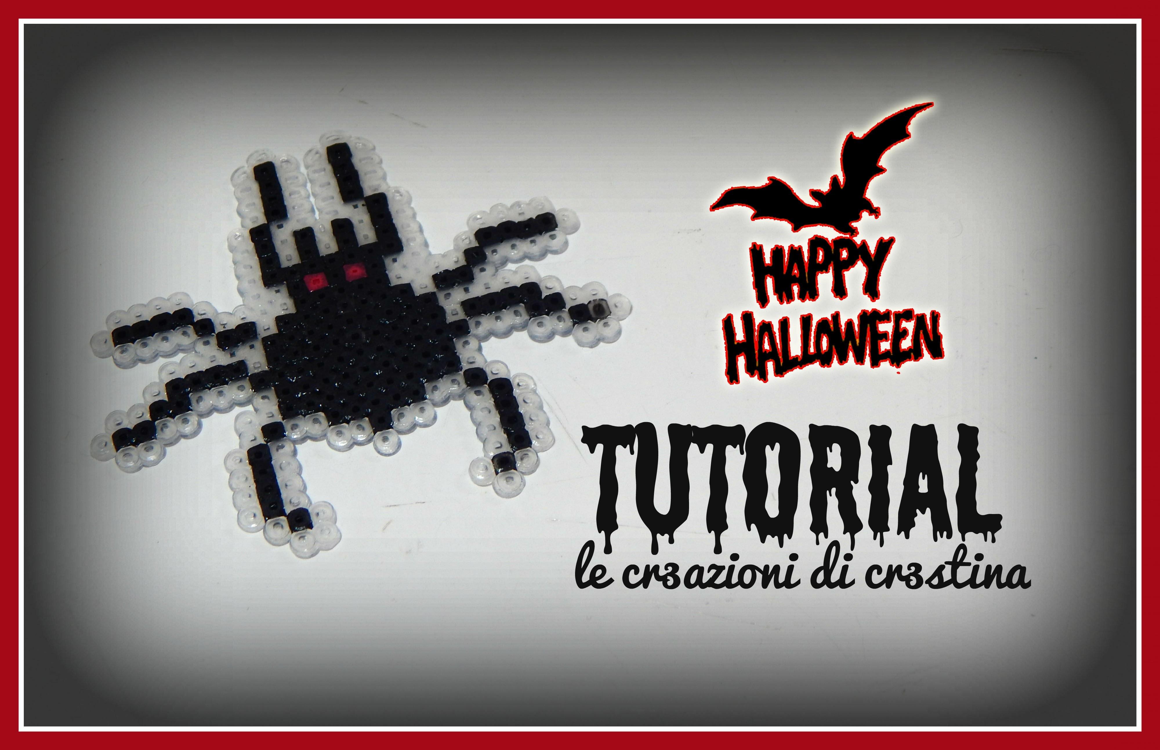Ragno per Halloween con HAMA BEADS - DIY Spider Tutorial