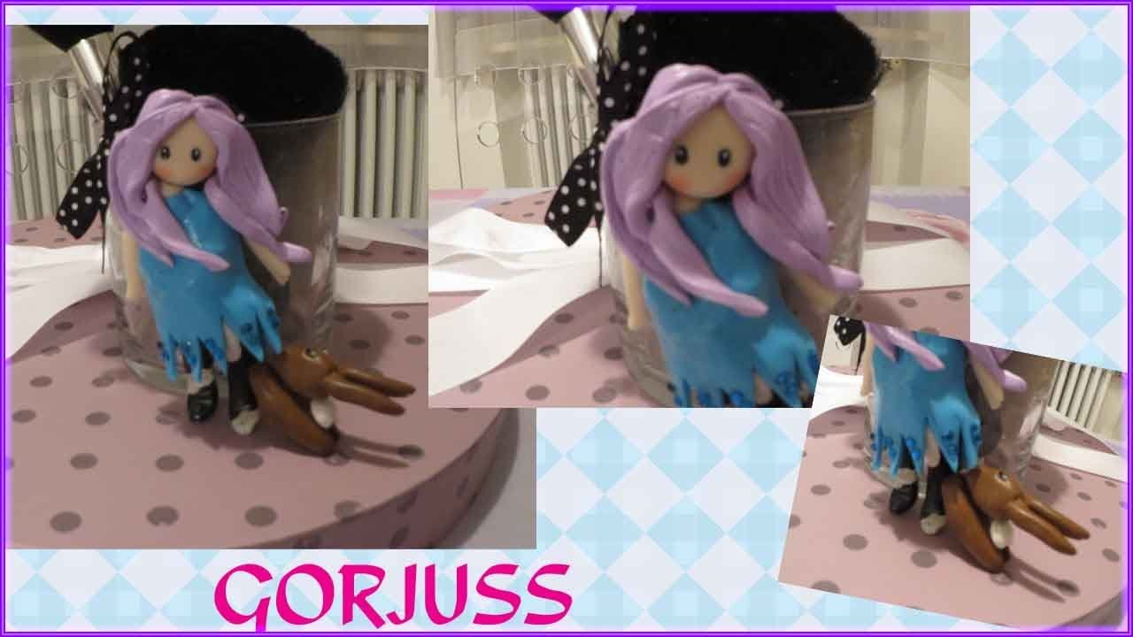 TUTORIAL FIMO #7: DIY porta pennelli con Gorjuss!