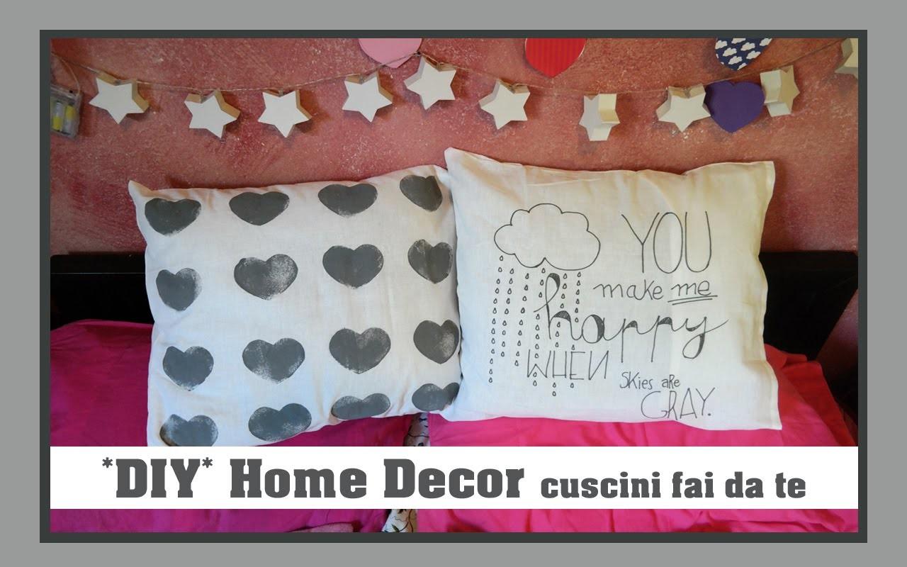 *DIY* Home Decor - Cuscini fai da te | Elena Dreamer