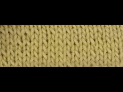 La maglia rasata il legaccio e  il vivagno - Tutorial maglia ai ferri