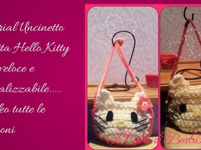 Tutorial Uncinetto borsa hello kitty parte 2