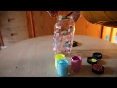 Lampada barattolo fluo in 5 minuti - video tutorial - DIY Jars Fluo