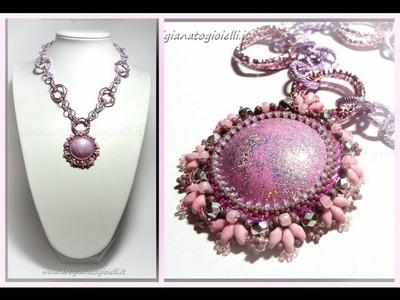Creazioni con perline e cabochon handmade - Peyote beadwork