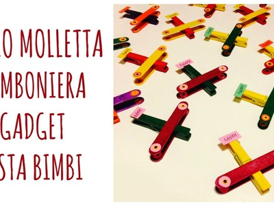 Party Creativi: Bombiniere.Gadget per festa Bimbi, gli AEREI molletta!(Riciclo. D.I.Y.) Arte per Te