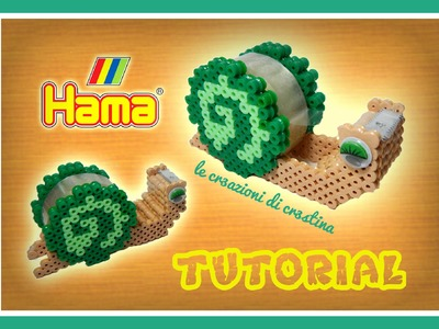 Porta Scotch Chiocciola 3D con HAMA BEADS.Pyssla - DIY Tutorial Dispenser per Nastro Adesivo