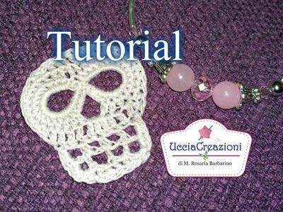 Tutorial 17. * Teschio all'Uncinetto Halloween * . How to Crochet Skull  Ucciacreazioni