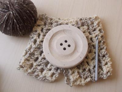 Uncinetto Scaldacollo Veloce Solo Maglia Alta  | Tutorial Crochet Scarf | Crochet Neckwarmer