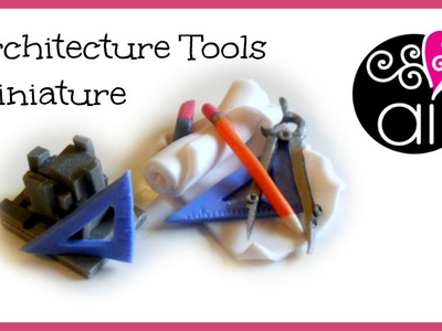 Miniature per un architetto | Polymer Clay Tutorial | DIY Architect's Objects Miniatures
