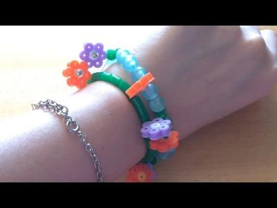DIY. Braccialetti Fioriti- Hama Beads - Pyssla - Perline a Fusione