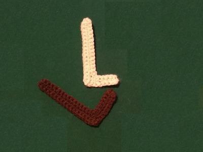 Lettera L all'uncinetto - Alfabeto all'uncinetto - tutorial crochet letter L