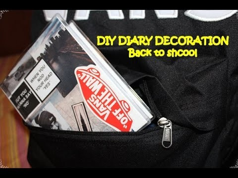DIY Diary Decoration Back to School 2015