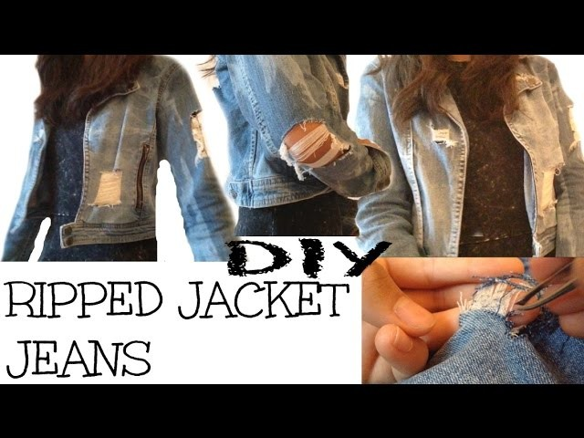 DIY RIPPED JACKET JEANS | Holographic Line