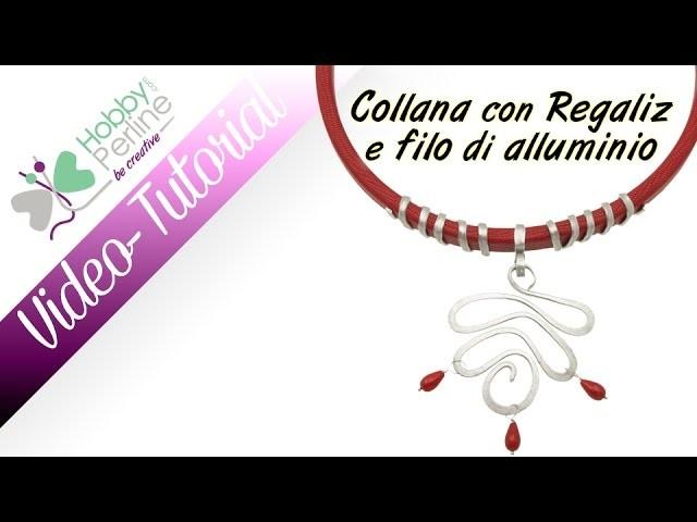 Collana Regaliz con filo di alluminio | TUTORIAL - HobbyPerline.com