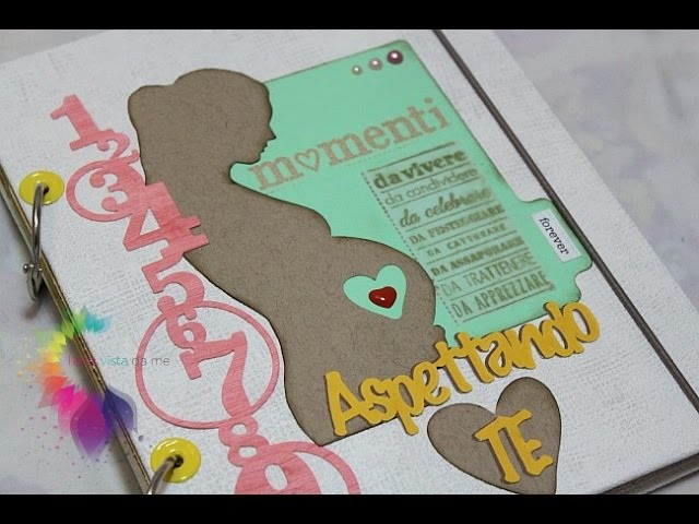 Diario di Gravidanza Fai da te-Mini Album Scrapbooking- Pregnancy Journal DIY