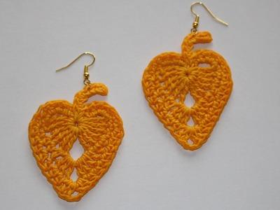 Foglie d'autunno all'uncinetto - Crochet fall leaf