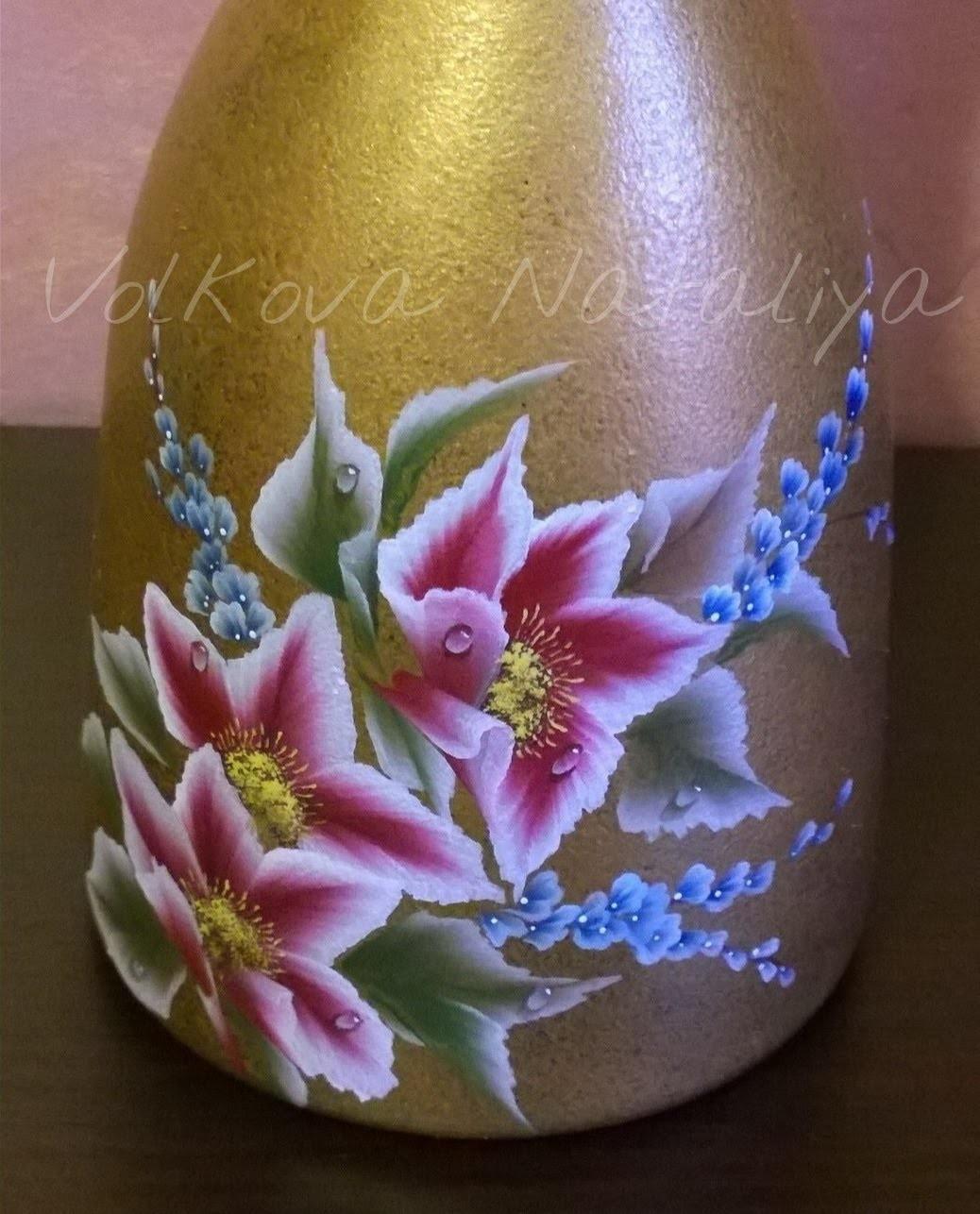 Dipingere Sassi Per Natale come dipingere sul vetro con colori acrilici. bottiglia