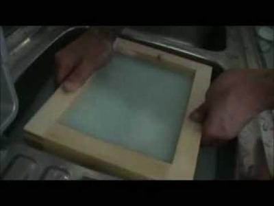"""Come fare la carta """"riciclata""""2° parte (pratica)"""