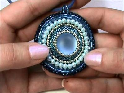 Creazioni della settimana: Ciondoli. Medaglioni Etnici all'Embroidery con Perline