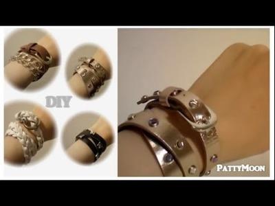 DIY Braccialetti con le cinture. Belt Bracelets