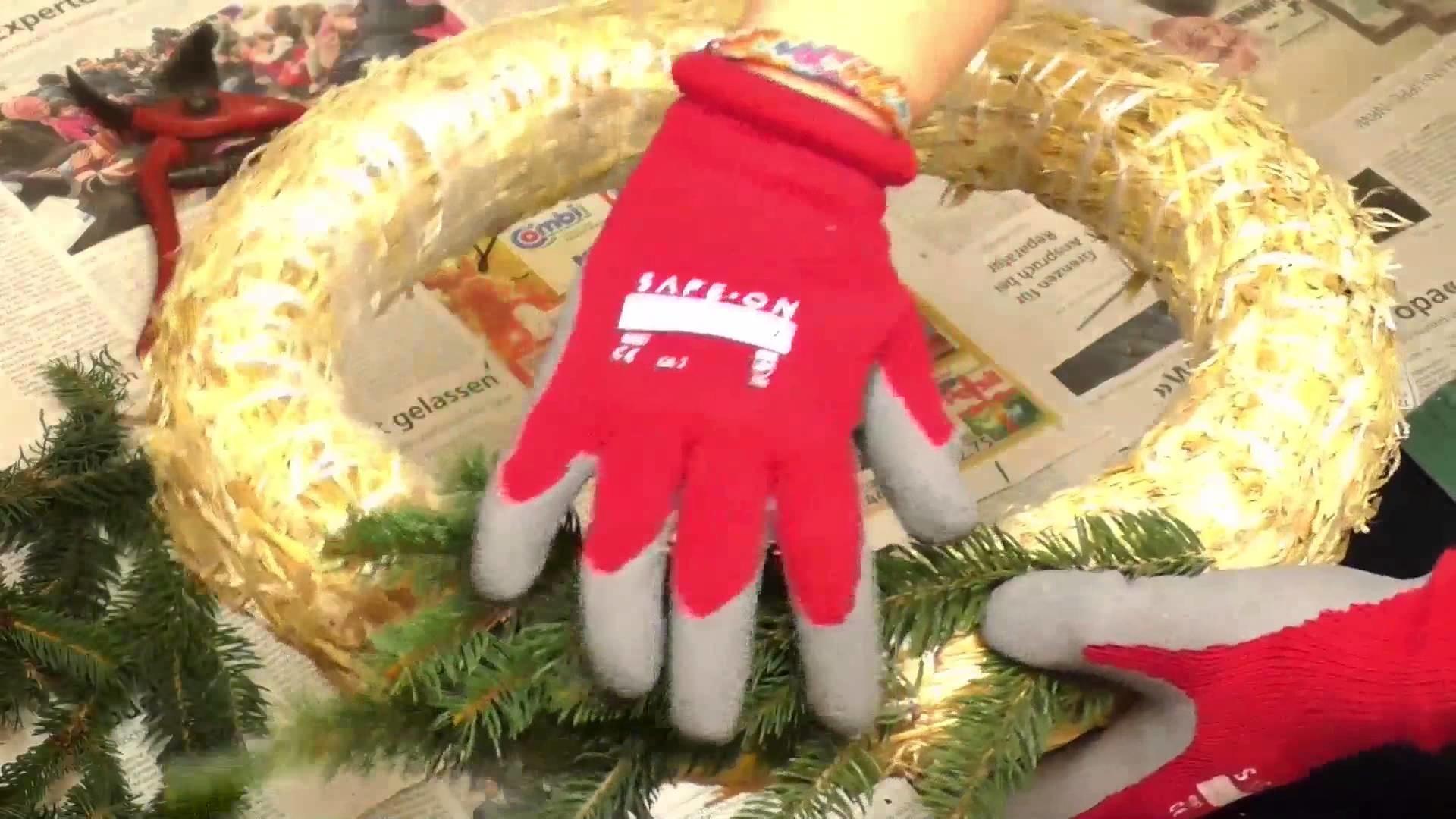 DIY Corona dell´Avvento | Corona con pino verde fai da te & Decora | Natale, candele & stelle