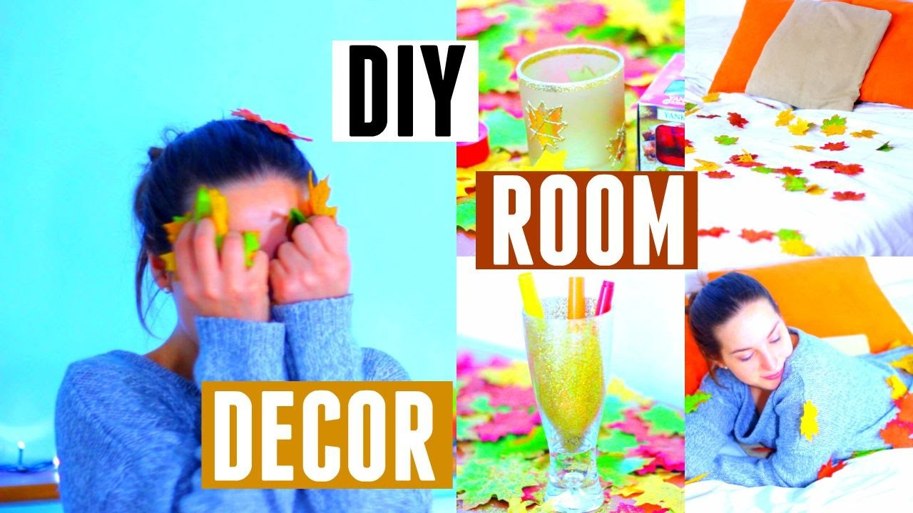 Diy room decor come decorare la stanza in modo autunnale for Decorare stanza natale