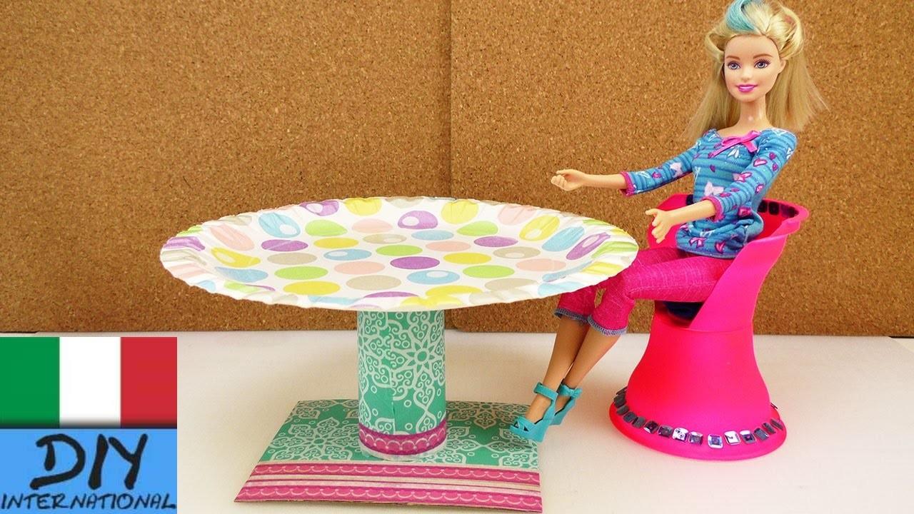 Mobili Fai da te - tavola rotonda per Barbie - istruzioni per il facile fai da te