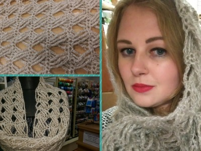 Scaldacollo all'uncinetto - Punto con maglie intrecciate (Tutorial) - How to crochet a cowl