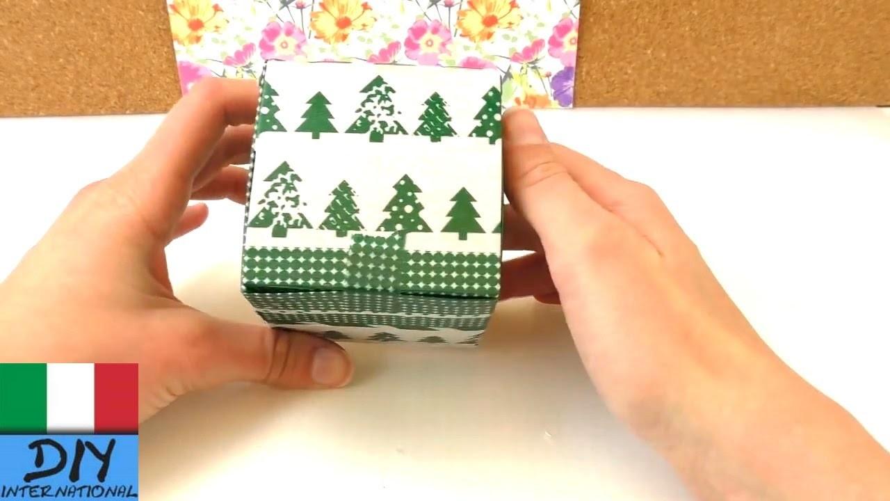 Scatola di cartone fai da te per lo stoccaggio   Regalo di Natale fai da te o compleanno