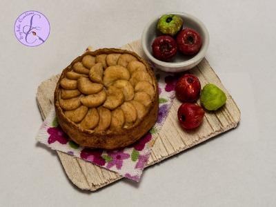 Tutorial: Torta di Mele in Fimo (polymer clay apple pie.cake)