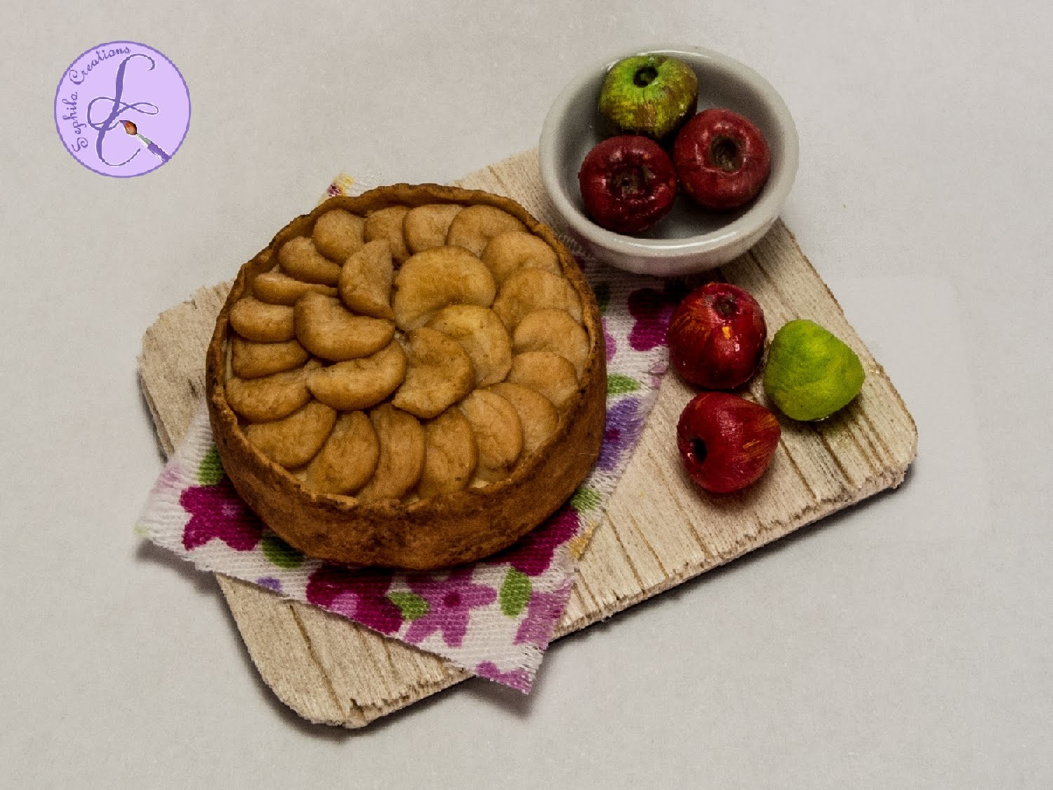 Tutorial: Torta di Mele in Fimo (polymer clay apple pie.cake)