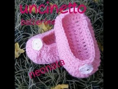 Tutorial uncinetto ballerine neonata
