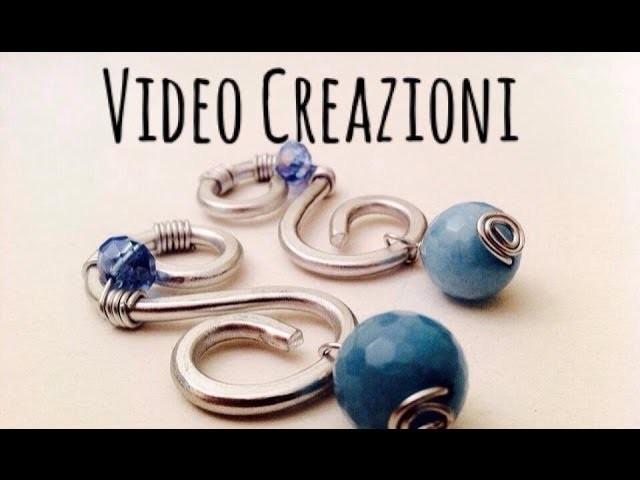 Video Creazioni #1 \ Wire e Pietre Naturali \ Orecchini, Pendenti, Tree of Life, Keys.