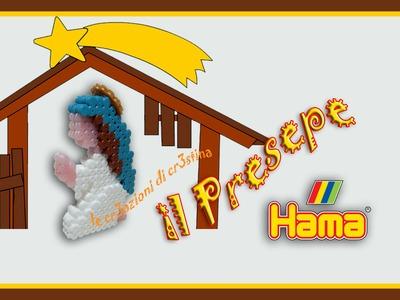 Madonnina.Maria 3D per il Presepe con Hama Beads - DIY Nativity Scene Madonna Tutorial