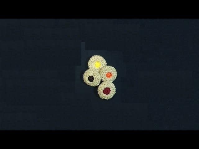 Biscottini all'uncinetto - crochet cookies - galletas en crochet