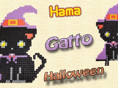 Gatto di Halloween con Hama Beads Black Cat (Halloween Series)