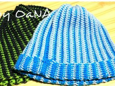 Tecnica tunisina   cappello a coste