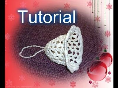 Tutorial 22. *Campanella di Natale *all' Uncinetto . How to Crochet Christmas bell Campana navideña