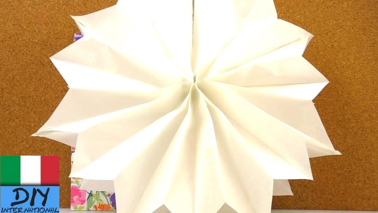 Stella Decorazione di Natale in 2 minuti |Super veloce stella con sacchetti di carta